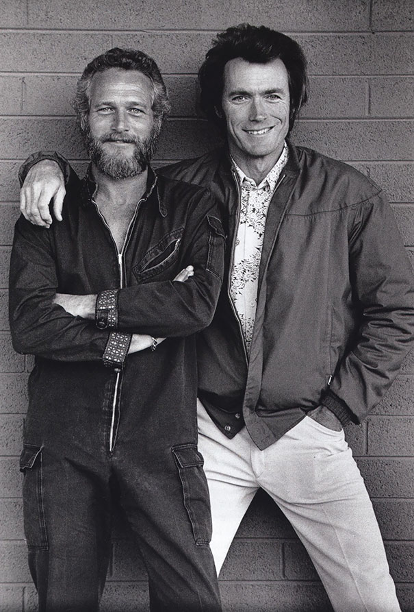 Paul Newman And Clint Eastwood Met By A Chance Outside A Motel In Tucson, Arizona, 1972