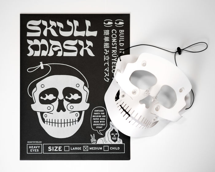 Build-It-Yourself Skull Mask For Halloween