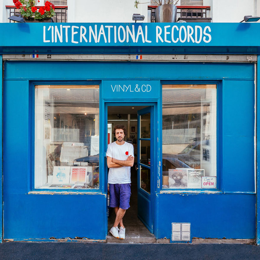 Dave Kouliche, Welcoming Visitors At His Vinyl Records Shop