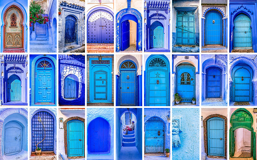 Most blue doors are found in Chefchaouen & The Colorful Doors Of Morocco | Bored Panda pezcame.com