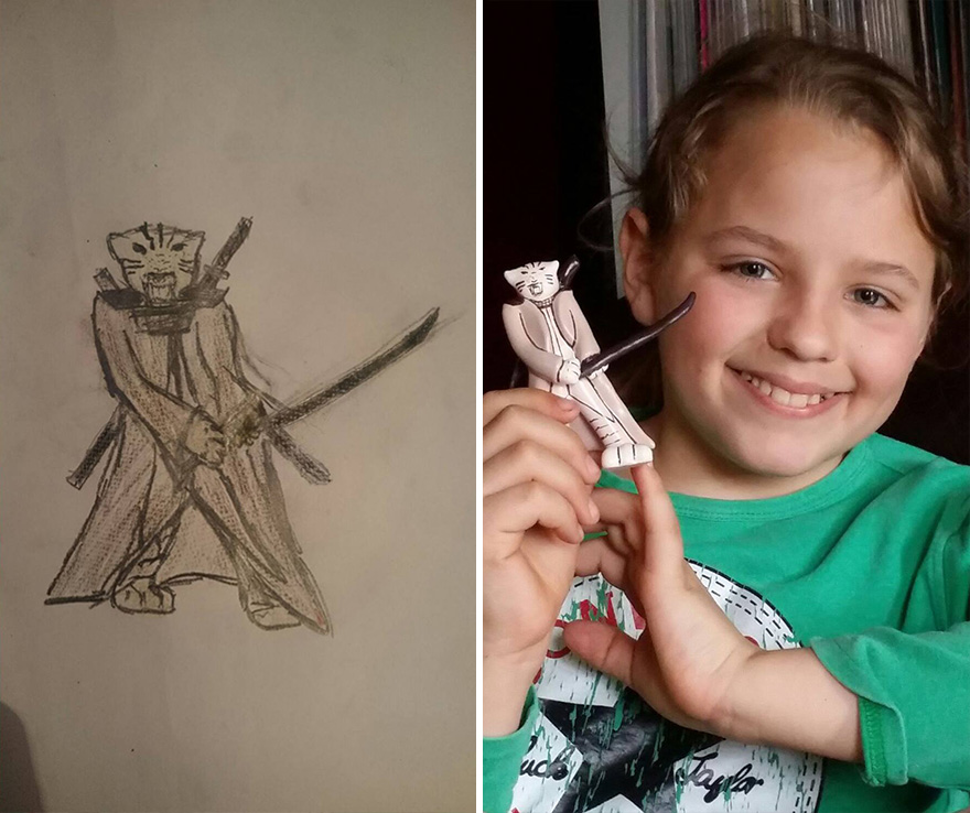 Turning Children's Drawings Into Figurines