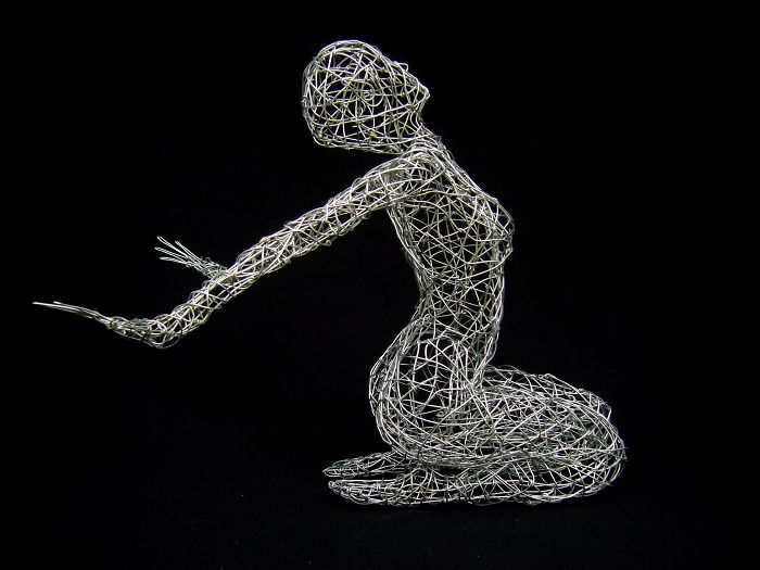 I Use Wire To Create These Sculptures