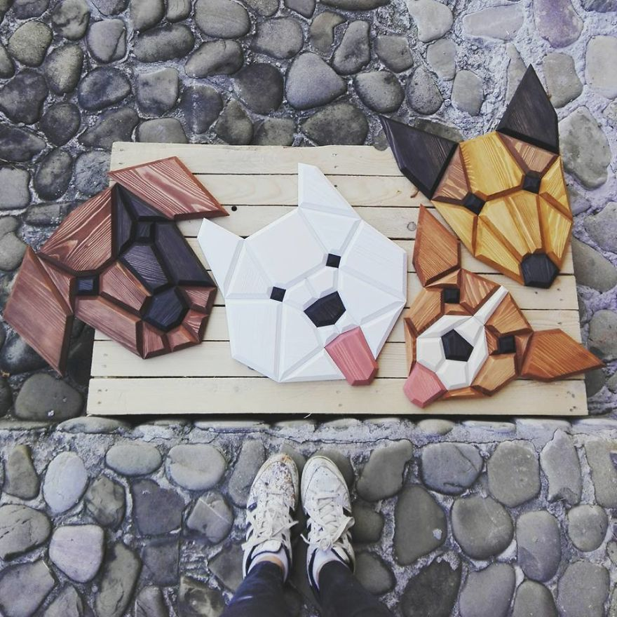We Make Wooden Dogs As A Wall Decor For Their Owners