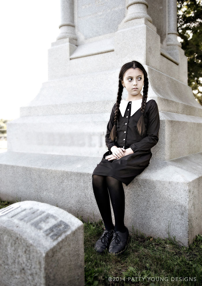 """My Daughter As """"wednesday Addams"""""""