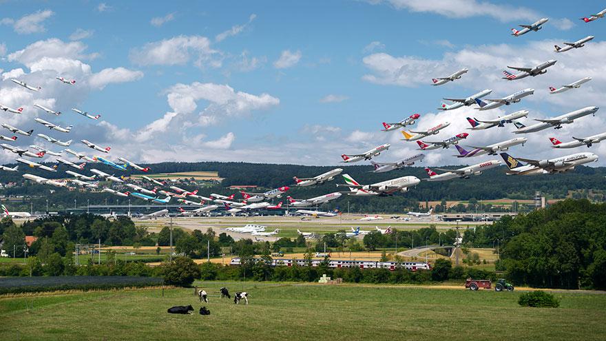 Zurich Airport Runways 28 And 16