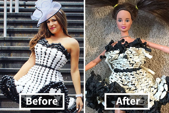 This Artist Makes Balloon Dresses And This Is How They Look A Month Later