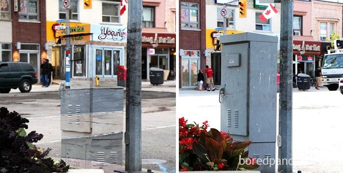 Signal Box In Toronto, Canada