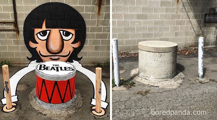Ringo Starr Street Art In Barcelona, Spain