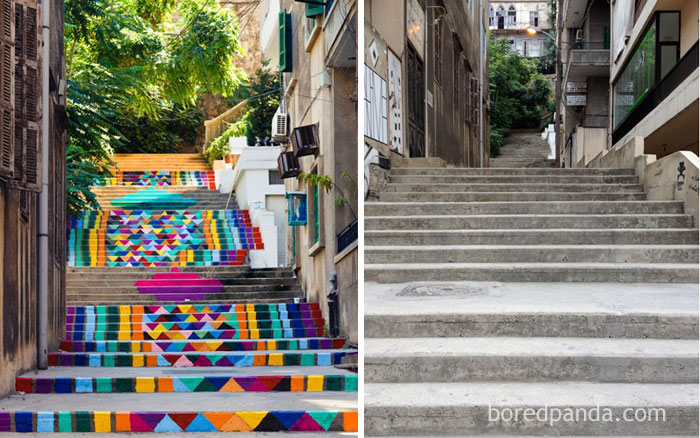 Ornamental Stairs In Beirut, Lebanon