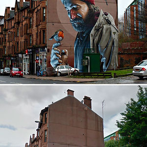Photorealistic Mural, Glasgow, Scotland