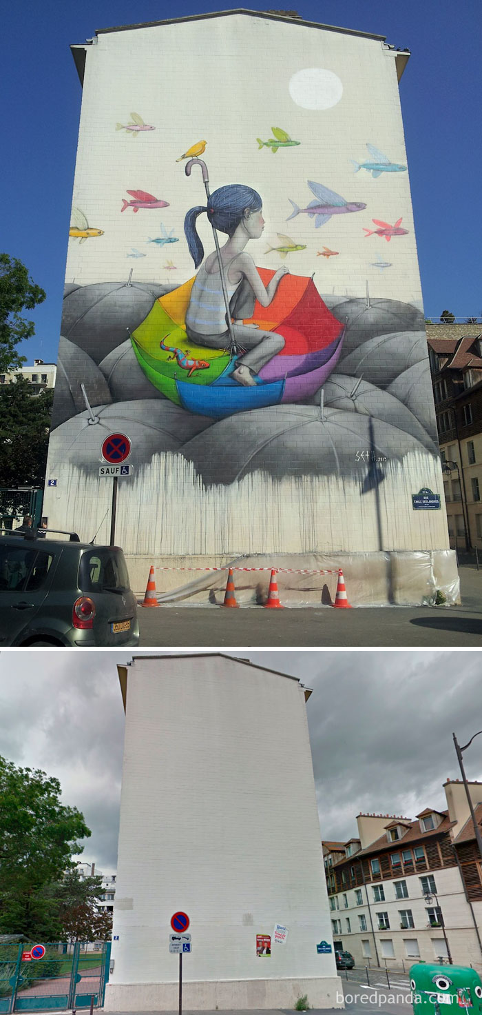 Umbrella Mural, Paris, France