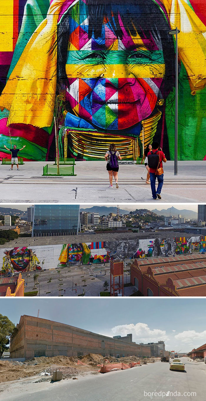 The Ethnicities, World's Largest Street Mural For The Rio Olympics, Rio De Janeiro, Brazil