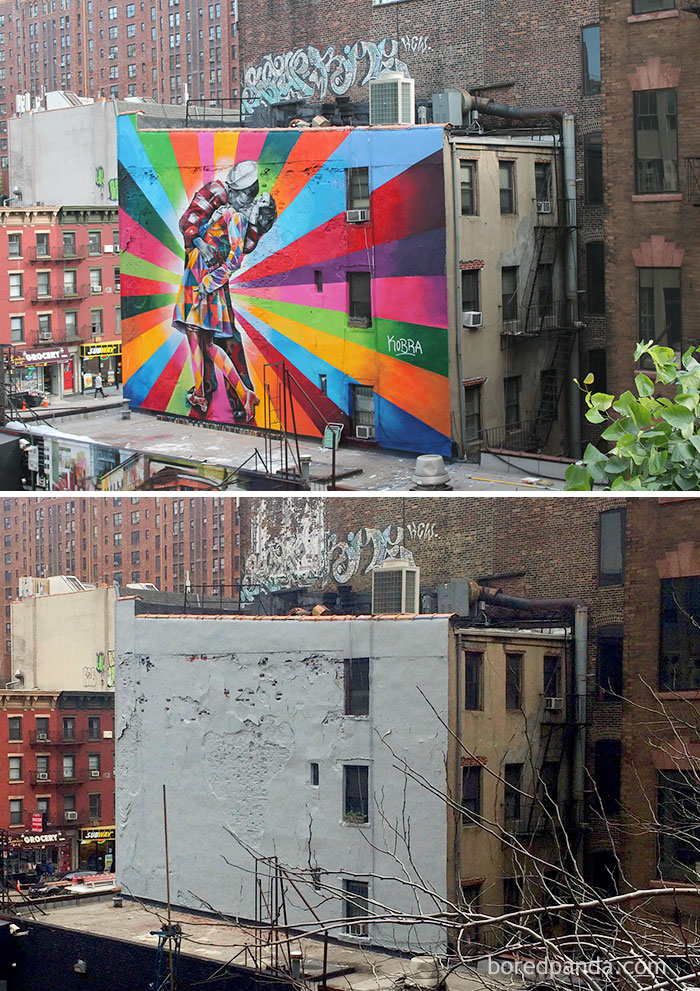 The Kiss Mural, Chelsea, New York, USA