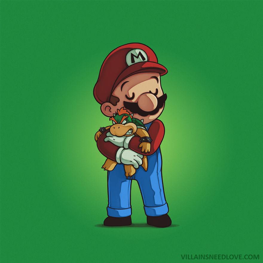Bowser & Mario