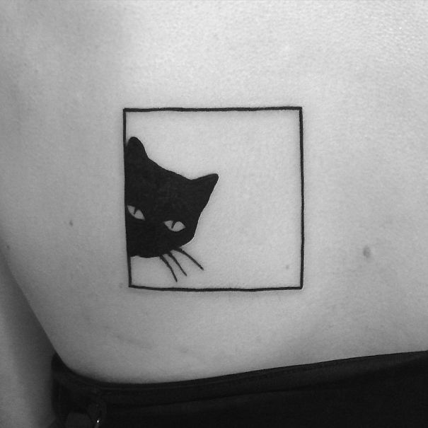 Framed Cat Tattoo