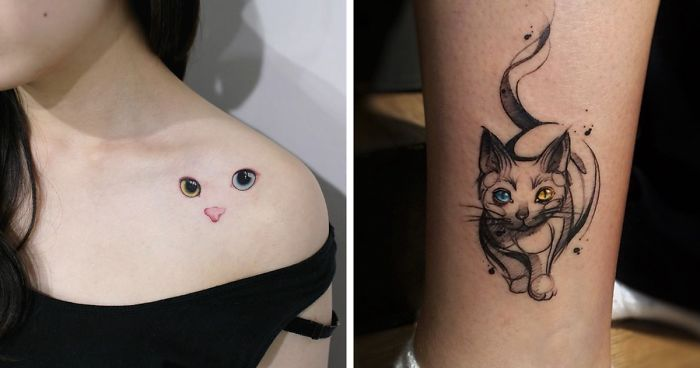 15 of the best cat tattoo ideas ever bored panda. Black Bedroom Furniture Sets. Home Design Ideas