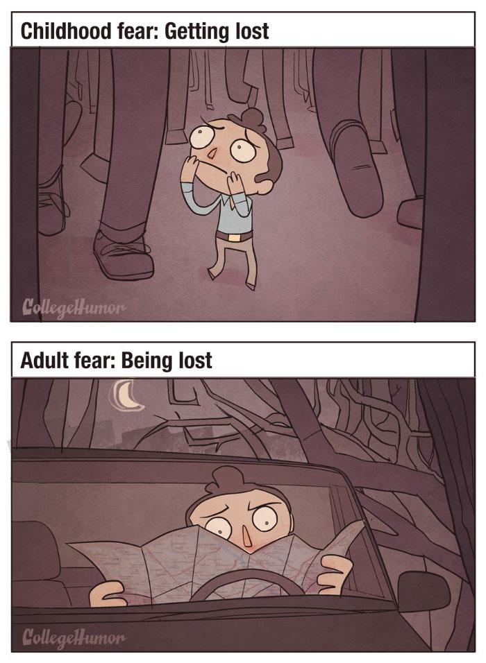 Childhood Fears Vs. Adult Fears