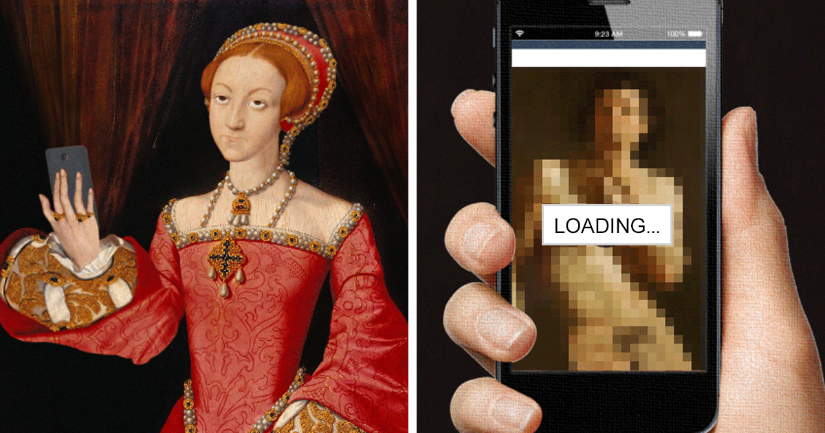 Polish Artist Turns Famous Classic Paintings Into Hilarious GIFs (10+ Pics)