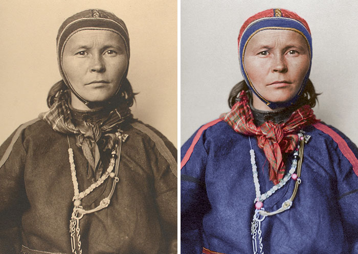 Rare 100-Year-Old Colorized Portraits Of New York Immigrants Reveal Their Incredible Clothing