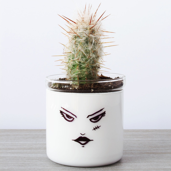 How To Make Mr. And Mrs. Frankenstein Succulent Pots