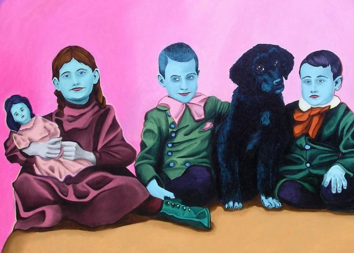 I Made Hauntingly Colorful Paintings Of My Dead Ancestors