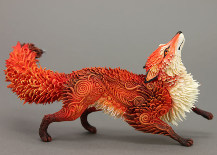 Russian Artist Creates Fantasy Animal Sculptures From Velvet Clay (85 Pics)