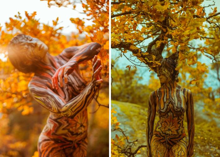 Autumn Body Painting Series By Vilija Vitkute