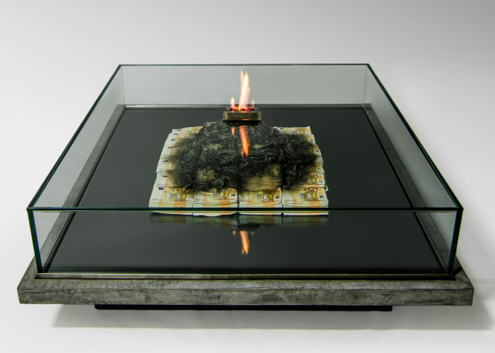 This Table Burns Money (literally)