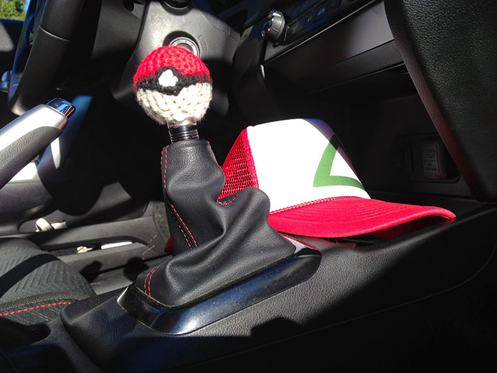 Pokeball Shift Knob Cover
