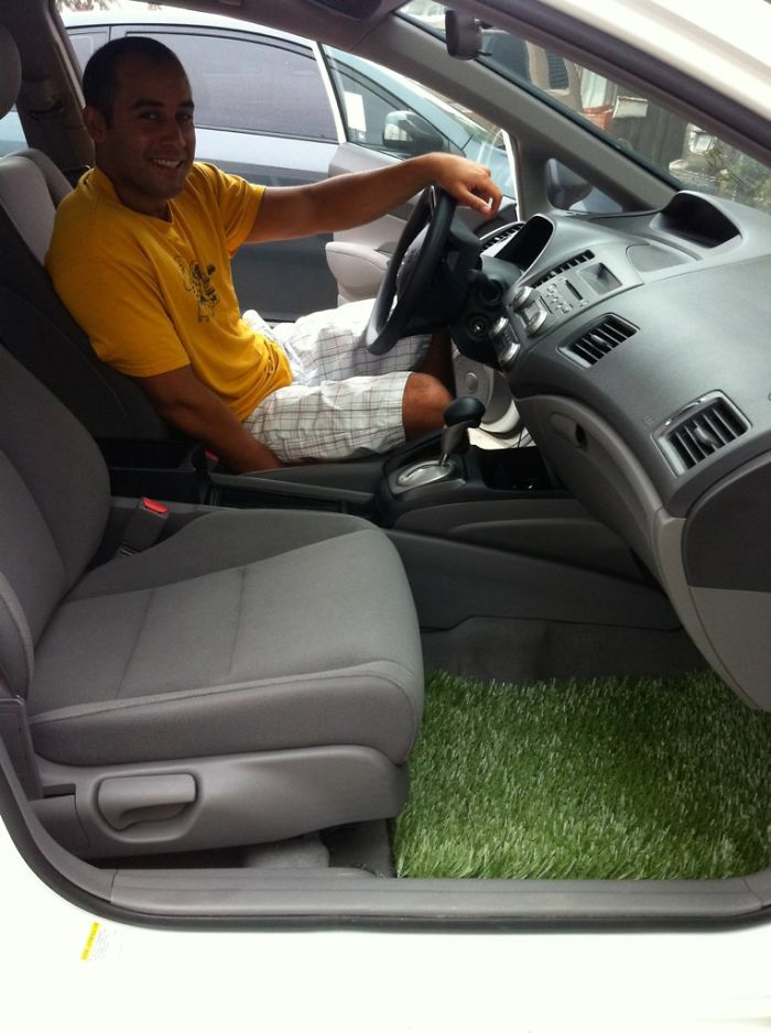 Brought The Outside Inside, Grass Car Mat