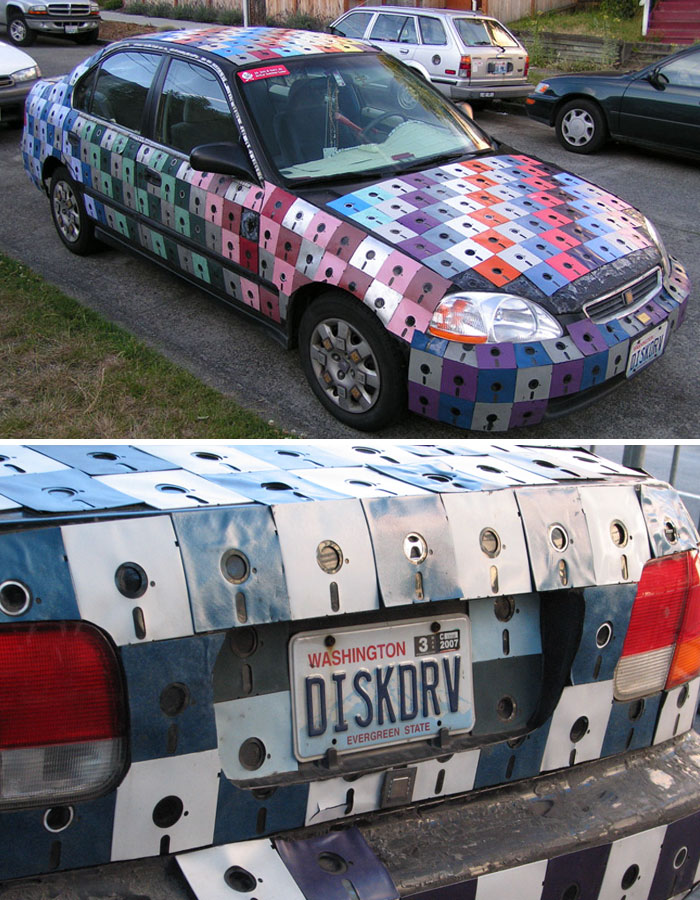 Floppy Disk Car Art