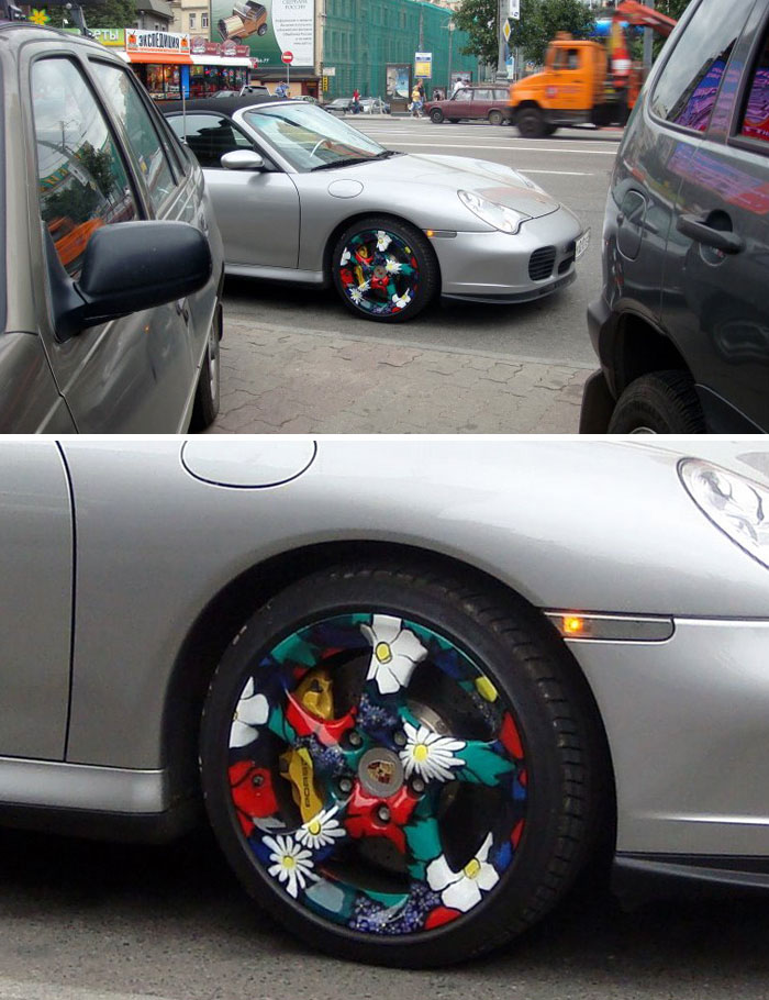 Wheels Painted With Flowers