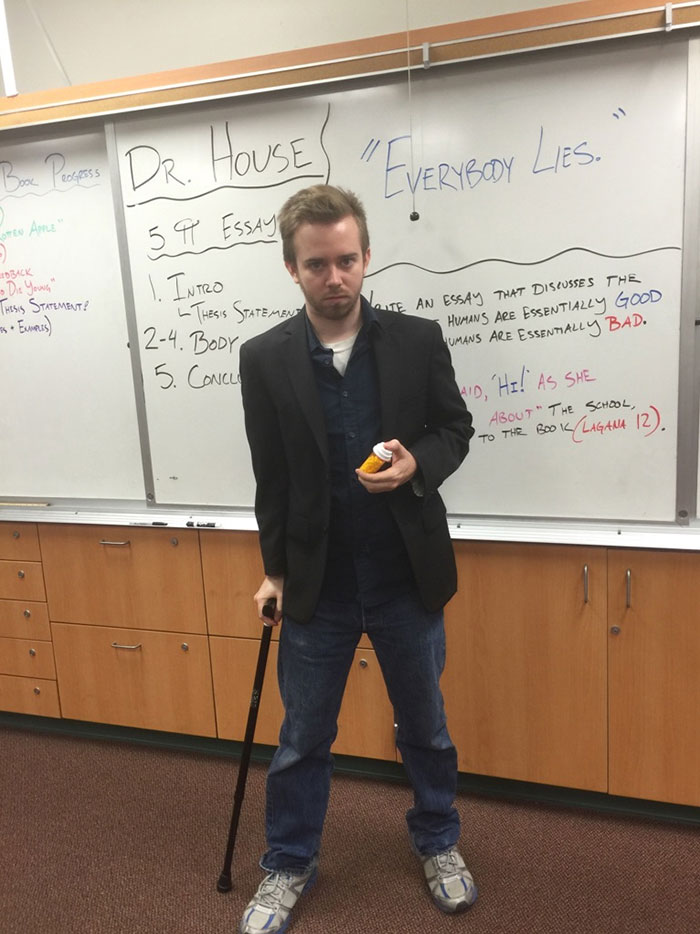 Dressed Up As House For Costume Day. My 9th Graders Don't Understand Why I'm Suddenly A Jerk To Them