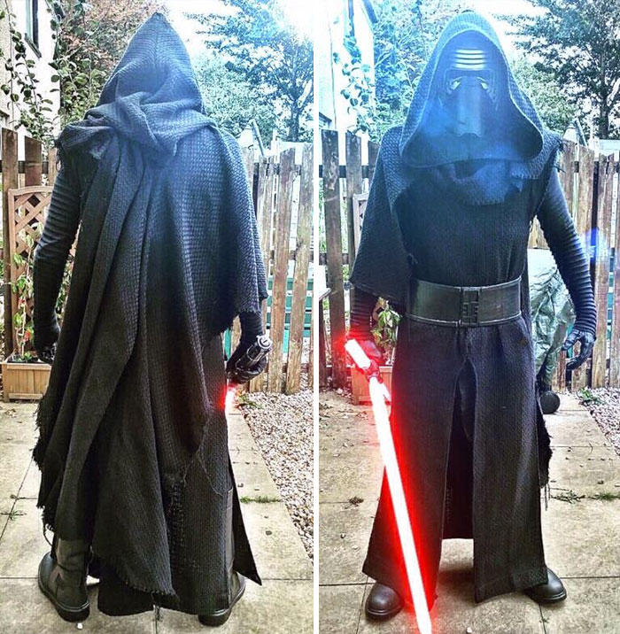 My Husband Is Working On A Kylo Ren Costume