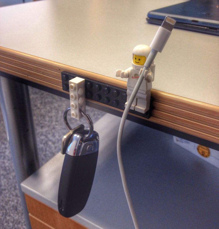 Lego Key And Cable Holder