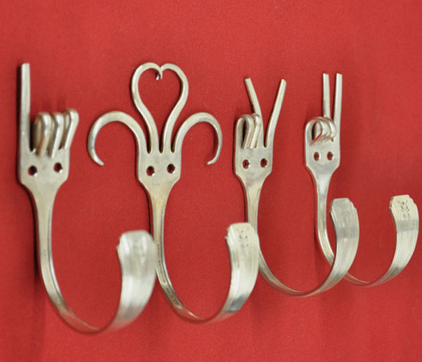 You Can Turn Forks Into Coat Hooks