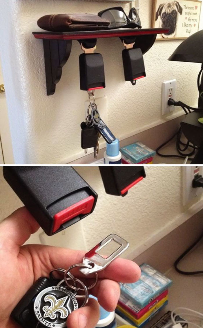 You Can Turn Your Old Seatbelts Into A Key Holder