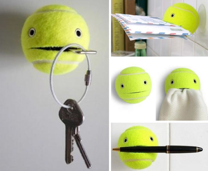 You Can Use A Tennis Ball As An Item Holder
