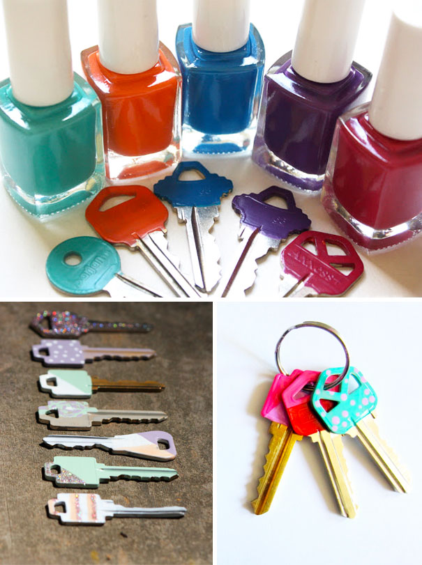 Use Nail Polish To Identify Different Keys
