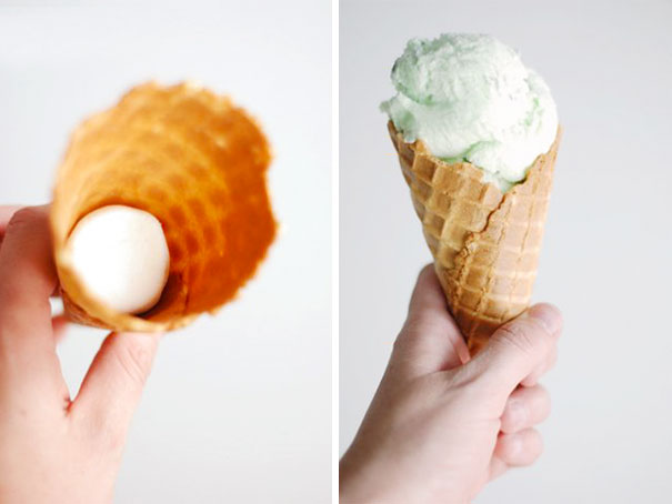 Put A Marshmallow In The Bottom Of Ice Cream Cones To Avoid Ice Cream From Dripping Out