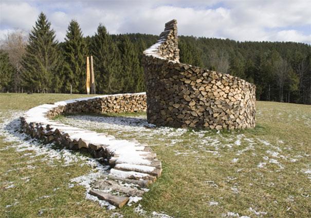 Spiral Wood Sculpture