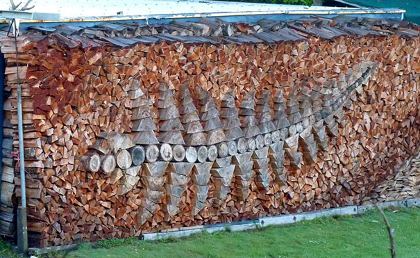 Artistic Woodpile