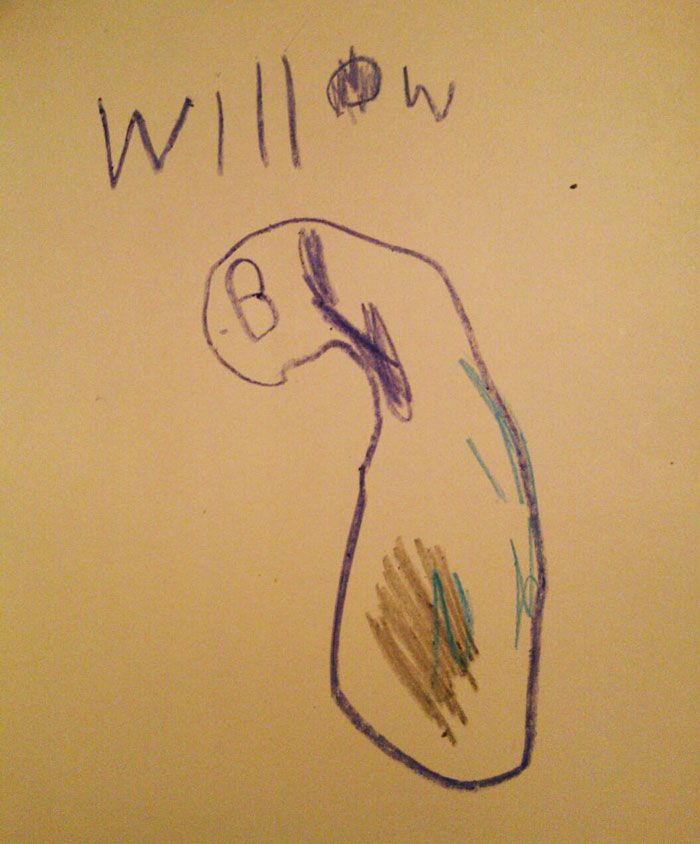 Another Creepy Drawing By My Four Year Old..