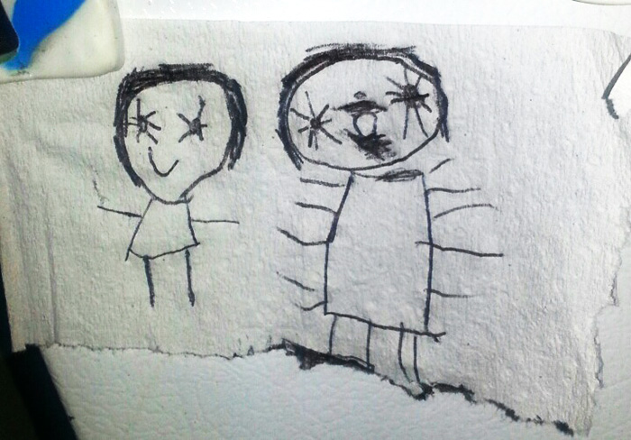 Girl Was Asked To Draw A Picture Of Her Imaginary Friend