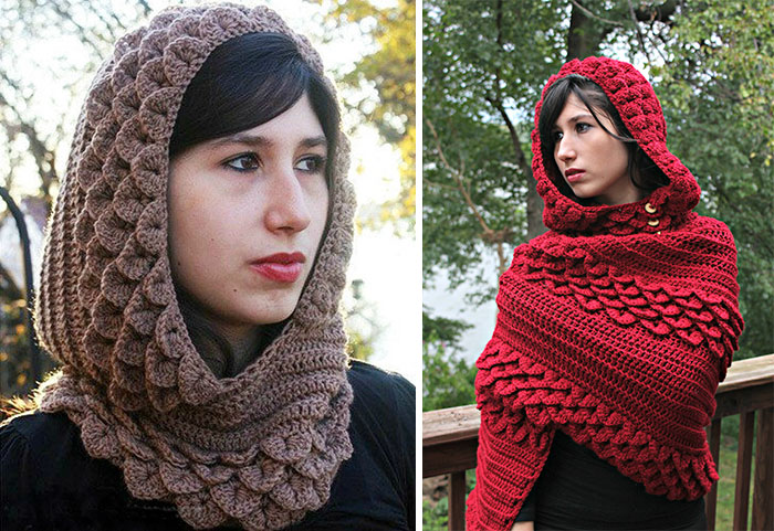Dragon Accessories With Crochet Scales Will Keep You Warm In Winter