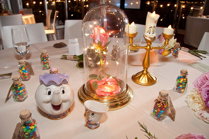 Each Table At This Couple's Wedding Was Inspired By A Different Disney Movie