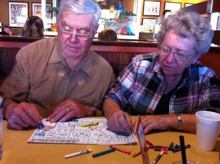 Coloring Books While Waiting For Food