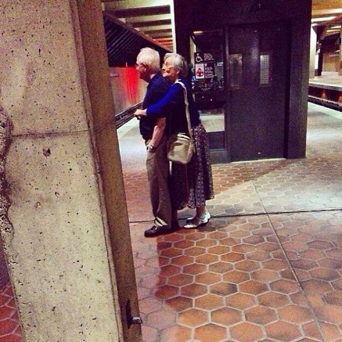 Sneaking A Hug In Public