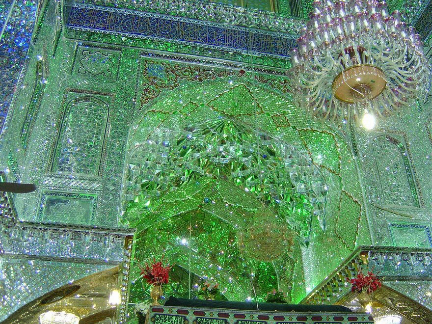 emerald-tomb-ceiling-shah-cheragh-shiraz-iran-12a