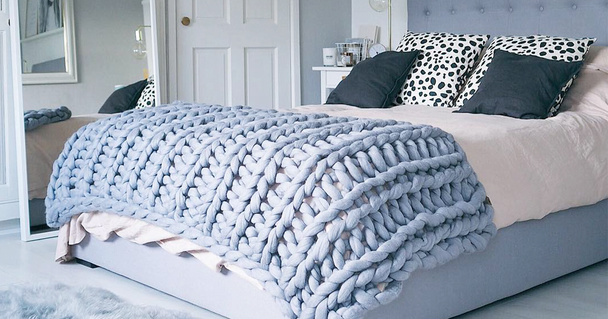 Extreme Knitting Blanket Pattern : You Can Make This Cozy Giant Blanket In Just 4 Hours Bored Panda